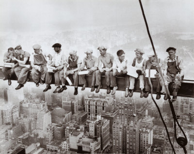 lunch atop a skyscraper circa 1932 by Charles C. Ebbets