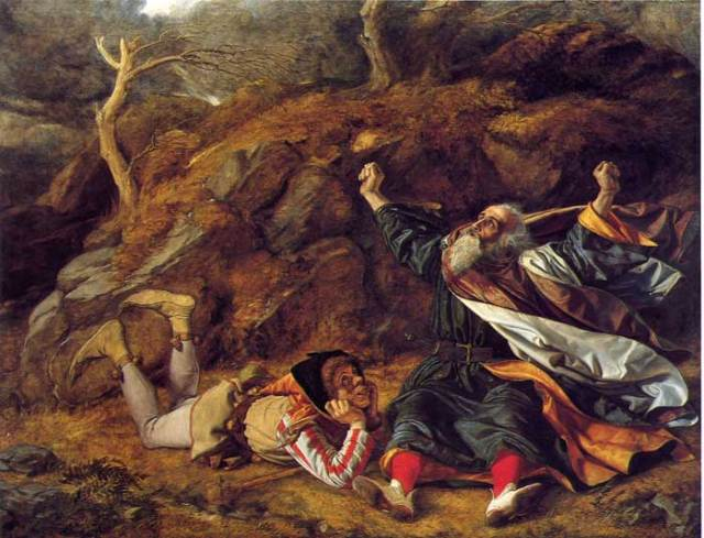 KING LEAR and the FOOL in the storm - William Dyce