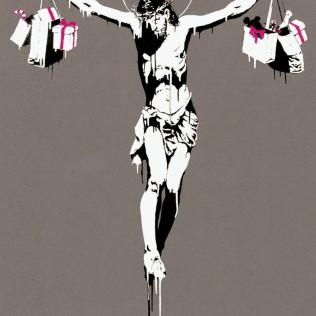 banksy consumer shopping christ